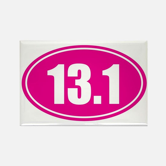 13.1 pink oval Rectangle Magnet