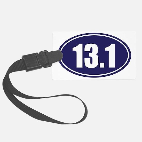 13.1 blue oval Luggage Tag