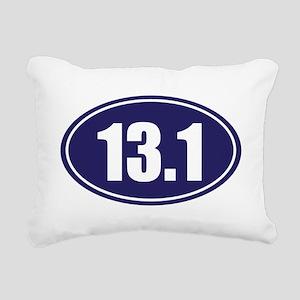 13.1 blue oval Rectangular Canvas Pillow