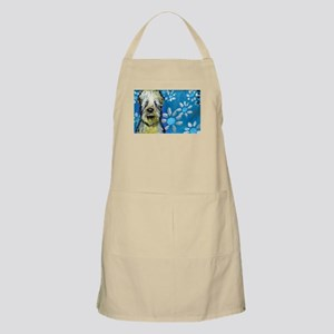 Wheaten Terrier flowers Apron