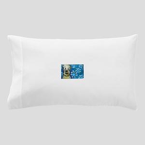 Wheaten Terrier flowers Pillow Case