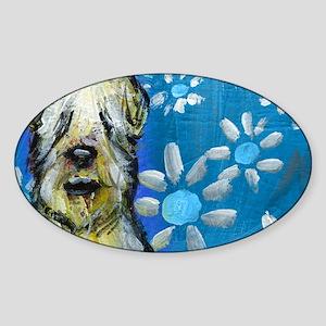 Wheaten Terrier flowers Sticker