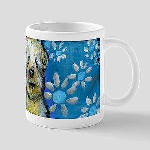 Wheaten Terrier flowers Mugs