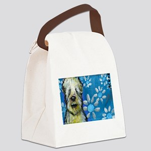 Wheaten Terrier flowers Canvas Lunch Bag