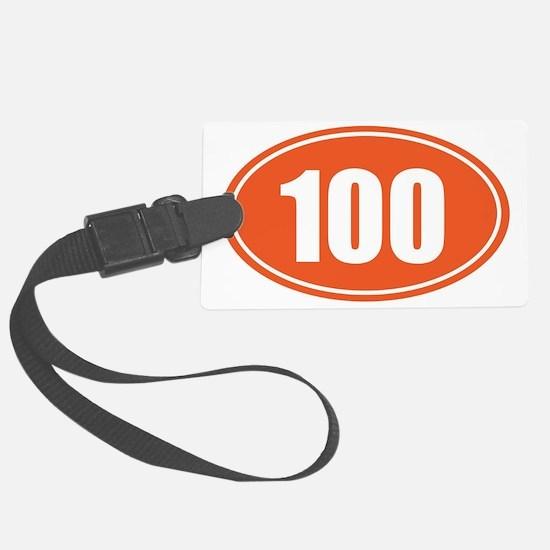 100 orange oval Luggage Tag