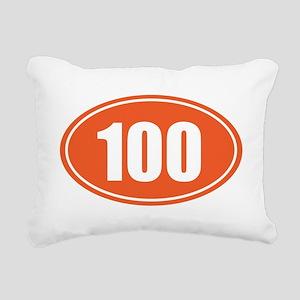 100 orange oval Rectangular Canvas Pillow