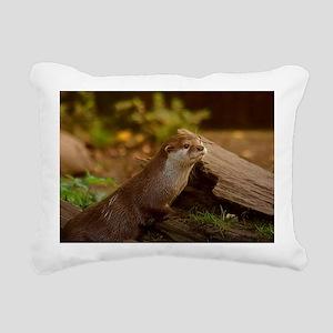 Fischotter Rectangular Canvas Pillow