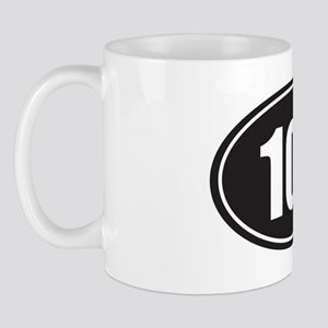 100 black oval Mug