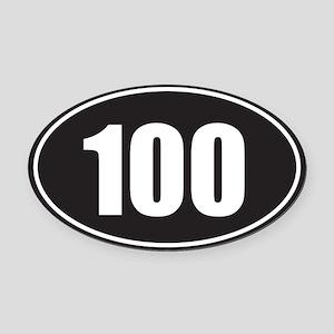 100 black oval Oval Car Magnet