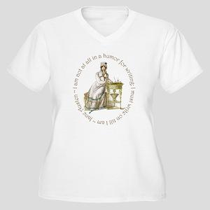 Jane Austen Writing Plus Size T-Shirt
