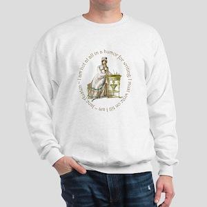 Jane Austen Writing Sweatshirt