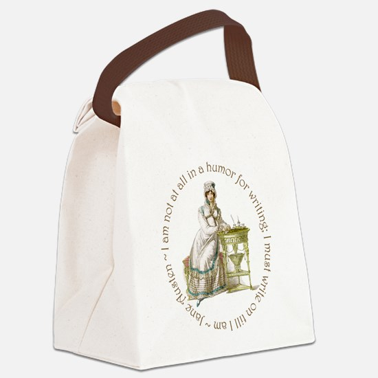 Jane Austen Writing Canvas Lunch Bag