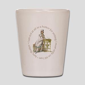 Jane Austen Writing Shot Glass