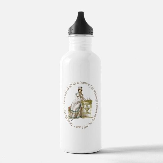 Jane Austen Writing Water Bottle