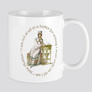 Jane Austen Writing Mugs