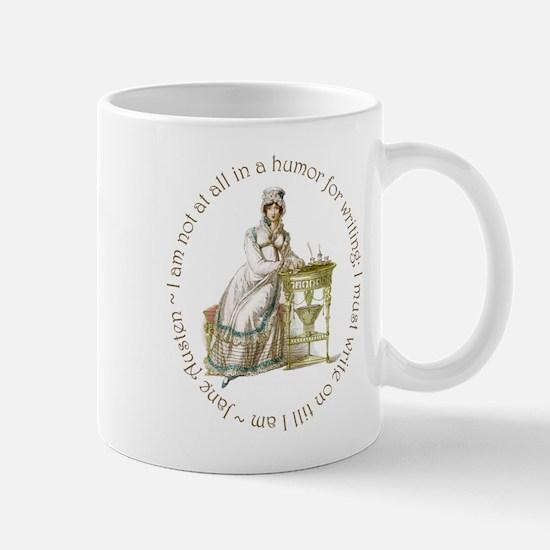 Jane Austen Writing Mugs
