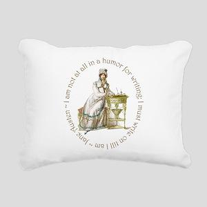 Jane Austen Writing Rectangular Canvas Pillow