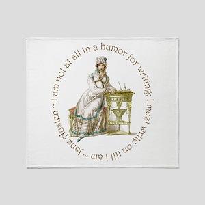 Jane Austen Writing Throw Blanket