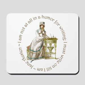 Jane Austen Writing Mousepad
