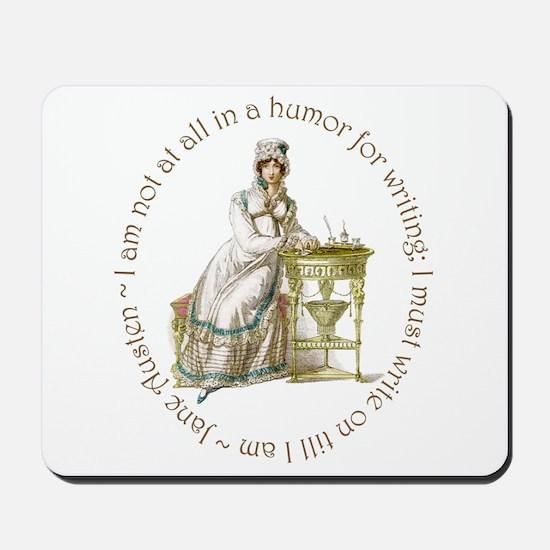 Jane Austen Writing Mousepad