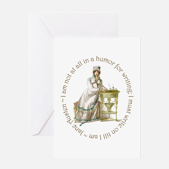 Jane Austen Writing Greeting Cards