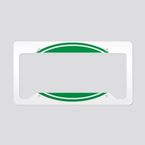 100 green oval License Plate Holder