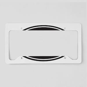 100k black oval License Plate Holder