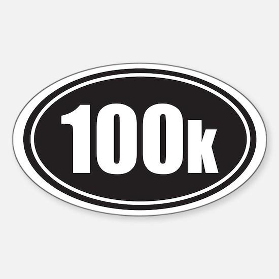100k black oval Sticker (Oval)