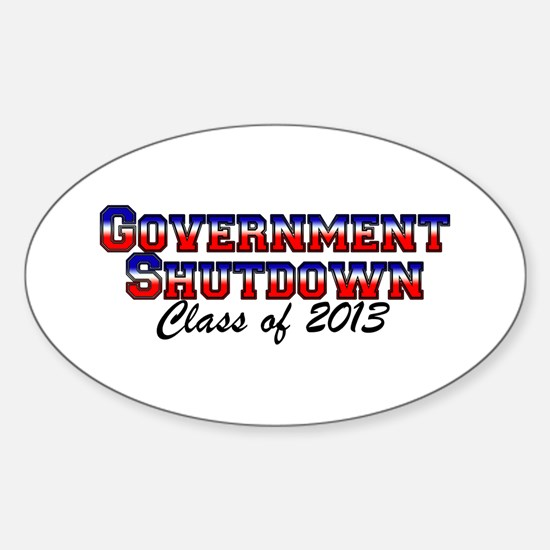 GvtShutClass13 Sticker (Oval)