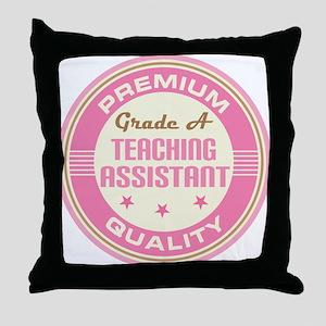Premium quality Teaching assistant Throw Pillow