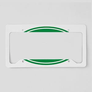 3.1 green oval License Plate Holder