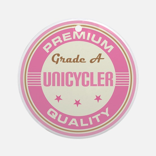 Premium quality Unicyclist Ornament (Round)