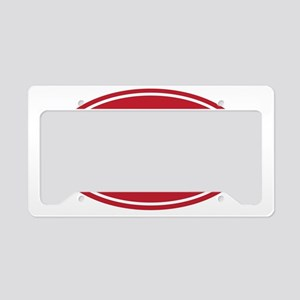 3.1 red oval License Plate Holder