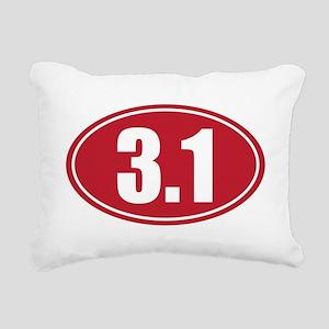 3.1 red oval Rectangular Canvas Pillow