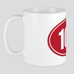 100 red oval Mug