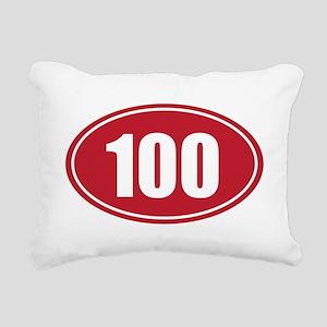 100 red oval Rectangular Canvas Pillow