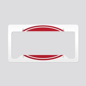 100 red oval License Plate Holder