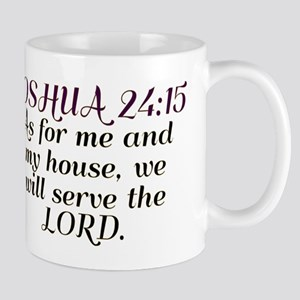 Joshua 24:15 - Serve the Lord Large Mugs