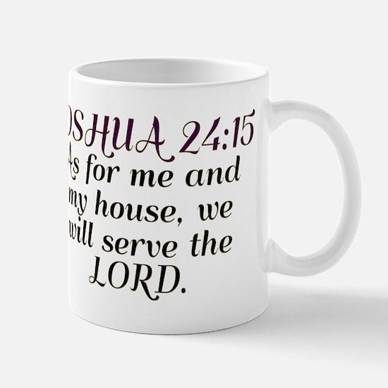 Joshua 24:15 - Serve the Lord Large Mugs