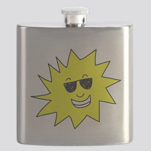 smiling sun with sunglasses Flask