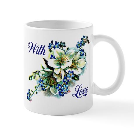 With Love - Blue Mug