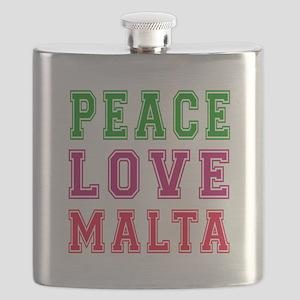 Peace Love Malta Flask