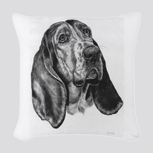 Basset Hound Woven Throw Pillow