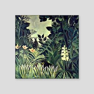 "Rousseau - The Equatorial J Square Sticker 3"" x 3"""