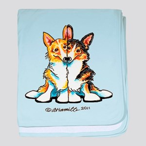 Too Cute Corgis baby blanket