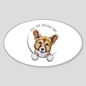 Classic Corgi IAAM Sticker (Oval)