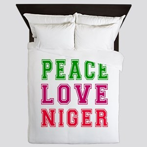 Peace Love Niger Queen Duvet