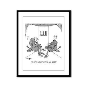 Prison's Feng Shui Framed Panel Print