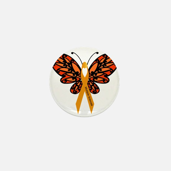 MS Heart Butterfly Mini Button (10 pack)
