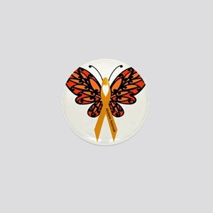 MS Heart Butterfly Mini Button